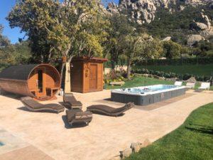 3. Piscine Spa area wellness Minipiscina Nuoto controcorrente Magic Line Egeo Sauna a botte 2 300x225 - Piscine & Spa Più In Italia in collaborazione con Agriturist